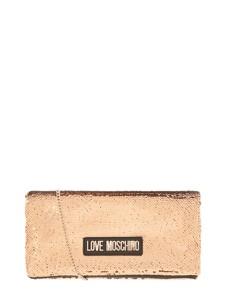 Złota torebka Love Moschino na ramię mała