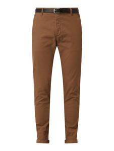 Brązowe spodnie Review z bawełny