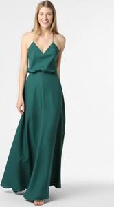 Zielona sukienka Laona z dekoltem w kształcie litery v maxi na ramiączkach
