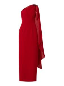 Sukienka Adrianna Papell z szyfonu z okrągłym dekoltem