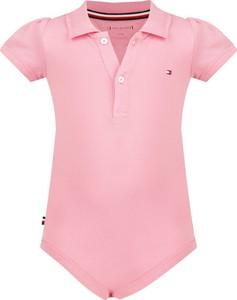 Różowe body niemowlęce Tommy Hilfiger