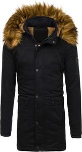 Czarna kurtka Denley z bawełny w street stylu