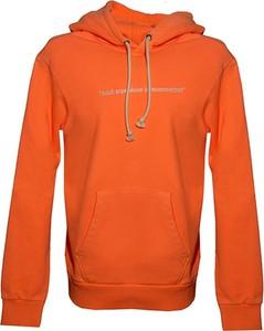 Pomarańczowa bluza Diesel Clothes z bawełny w stylu casual