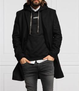 Czarny płaszcz męski Hugo Boss