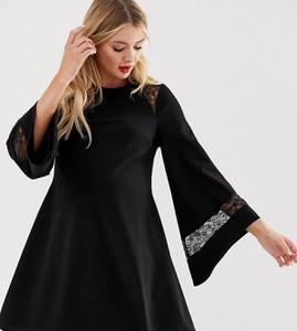 Czarna sukienka Asos z długim rękawem