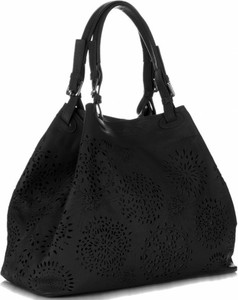 Torebki Skórzane typu ShopperBag renomowanej firmy VITTORIA GOTTI Czarne