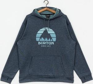 Granatowa bluza Burton z plaru z nadrukiem