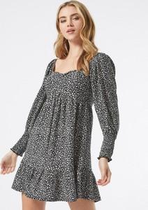 Sukienka Miss Selfridge w stylu casual dopasowana z długim rękawem