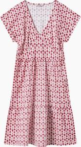 Sukienka ORSAY w stylu casual z dekoltem w kształcie litery v z bawełny