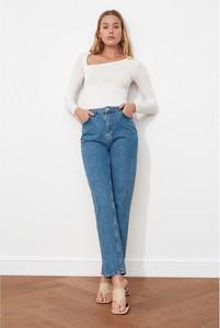 Niebieskie jeansy Trendyol z jeansu