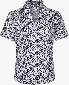 Bluzka Franco Callegari z krótkim rękawem z dekoltem w kształcie litery v