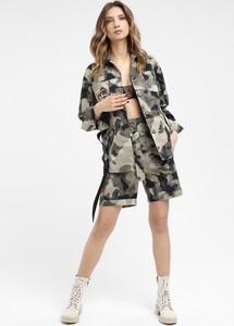 Kurtka redifashion_com z bawełny w militarnym stylu