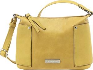 Żółta torebka Tamaris średnia