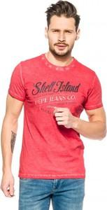 Różowy t-shirt Pepe Jeans z krótkim rękawem