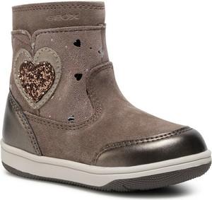 Brązowe buty dziecięce zimowe Geox