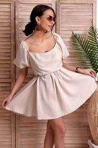 Sukienka IVET hiszpanka z długim rękawem mini