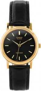 ZEGAREK MĘSKI CASIO MTP-1095Q-1A Czarny   Złoty