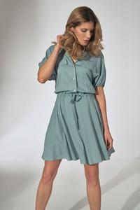 Zielona sukienka Figl koszulowa w stylu casual mini