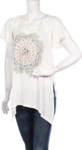 Bluzka Desigual z okrągłym dekoltem z bawełny