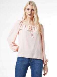 Różowa bluzka Dorothy Perkins z szyfonu