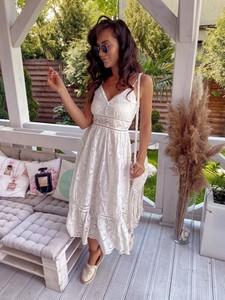 Sukienka Hollywood Dream midi z dekoltem w kształcie litery v na ramiączkach
