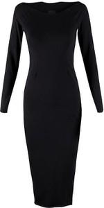 Czarna sukienka Byinsomnia z bawełny midi
