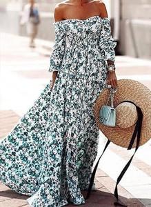 Sukienka Cikelly z długim rękawem maxi oversize