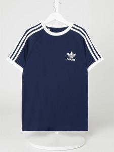 Granatowa koszulka dziecięca Adidas Originals dla chłopców w paseczki