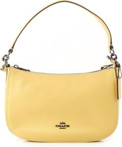 Żółta torebka Coach ze skóry