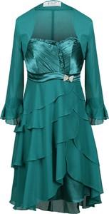 Sukienka Fokus midi z szyfonu z długim rękawem
