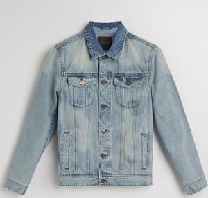 Niebieska kurtka Reserved w street stylu z jeansu