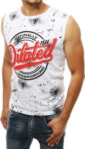T-shirt Dstreet z bawełny z nadrukiem w młodzieżowym stylu