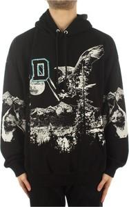 Czarna bluza Diesel w młodzieżowym stylu z bawełny z nadrukiem