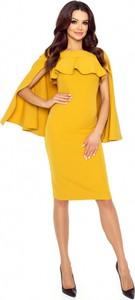 Sukienka Bergamo z długim rękawem midi ołówkowa