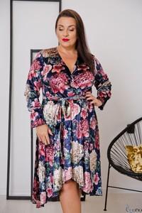 Sukienka tono.sklep.pl z weluru z długim rękawem mini