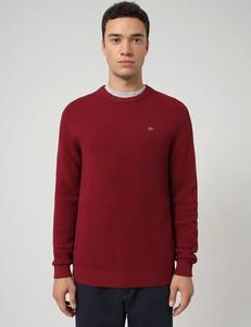 Czerwony sweter Napapijri z okrągłym dekoltem w stylu casual z bawełny