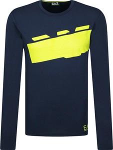 T-shirt Emporio Armani z nadrukiem z długim rękawem w młodzieżowym stylu