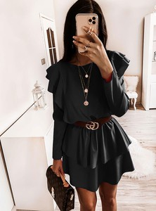 Sukienka Pakuten z długim rękawem w stylu casual mini
