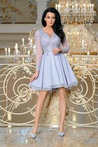 4ba1eec254 Niebieskie sukienki wieczorowe z tiulu