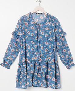 Granatowa sukienka Sinsay mini w stylu casual
