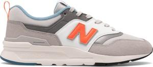 Buty sportowe New Balance w street stylu sznurowane ze skóry