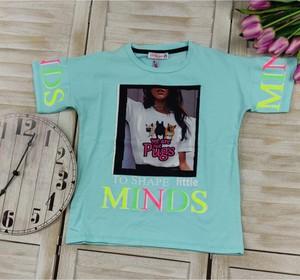 Niebieska bluzka dziecięca Petit Boutique - Moda Dziecięca z bawełny