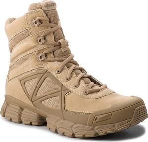 Brązowe buty zimowe bates z zamszu