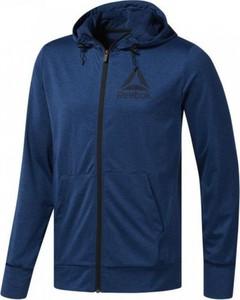 Niebieska bluza Reebok w sportowym stylu z polaru