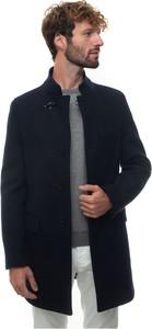 Niebieski płaszcz męski Fay
