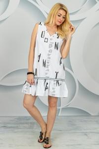 Sukienka Made in Italy w stylu casual bez rękawów z dekoltem w kształcie litery v