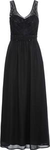 Czarna sukienka bonprix BODYFLIRT boutique maxi bez rękawów