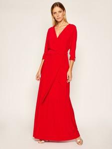 Sukienka Ralph Lauren z dekoltem w kształcie litery v z długim rękawem maxi