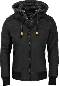 Czarna kurtka Recea w stylu casual z dzianiny