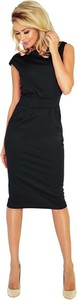 Czarna sukienka NUMOCO z okrągłym dekoltem